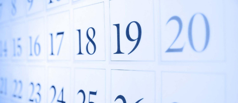 Calendario de sesiones académicas 2017