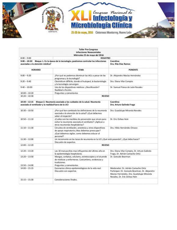Programa Final del Congreso Monterrey 2016