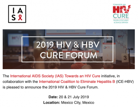 2019 HIV & HBV Cure Forum  20 & 21 July 2019 | Mexico City, Mexico