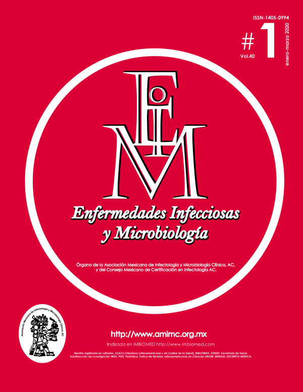 REVISTA ENFERMEDADES INFECCIOSAS Y MICROBOLOGÍA #1 2020
